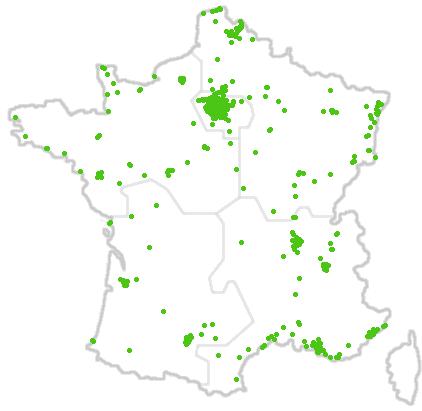 Carte des répartiteurs