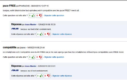 ADUF : Voir le sujet - ASUS ZenFone 2 Laser + Free 4G + 50Go???