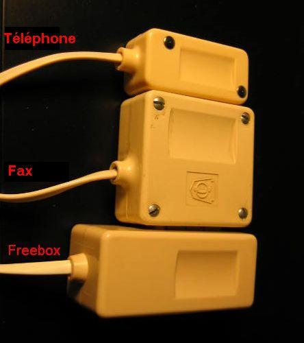Aduf voir le sujet comment brancher un fax externe sur - Brancher prise telephone ...