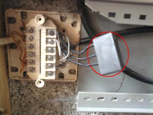 Aduf voir le sujet en cours condensateur sur la tte for Boitier exterieur france telecom